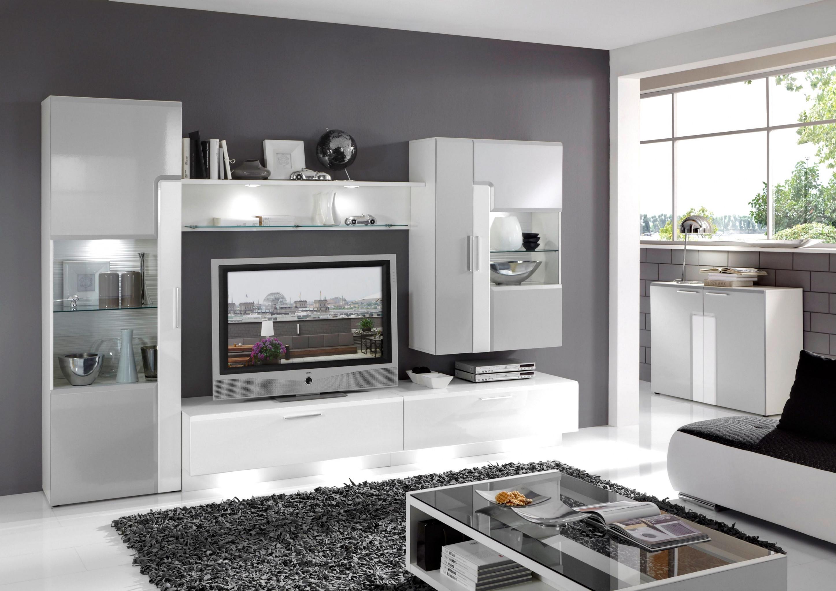 Wohnzimmer Ideen Weiss Grau  Wohnzimmer Weiß Wohnzimmer von Wohnzimmer Gestalten Grau Weiss Bild