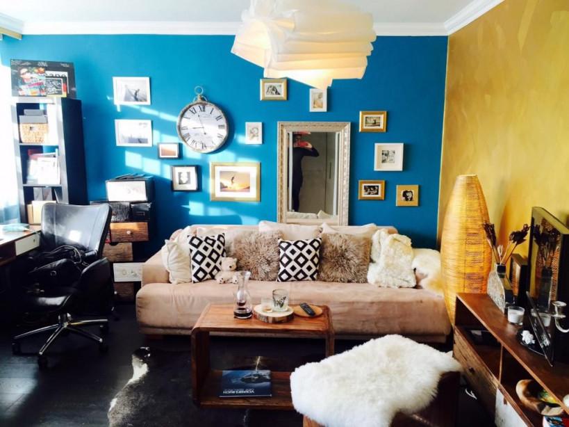 Wohnzimmer In Blau Und Gelb Wohnzimmer Livingroom von Wohnzimmer Ideen Blau Photo