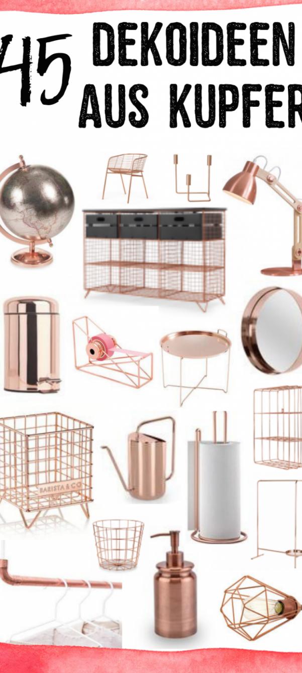 Wohnzimmer Kupfer Dekoration 45 Dekoideen Aus Kupfer von Kupfer Deko Wohnzimmer Photo