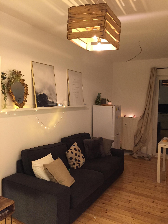 Wohnzimmer Mit Diy Lampe Ikea Desenio Scandi L von Diy Wohnzimmer Lampe Bild