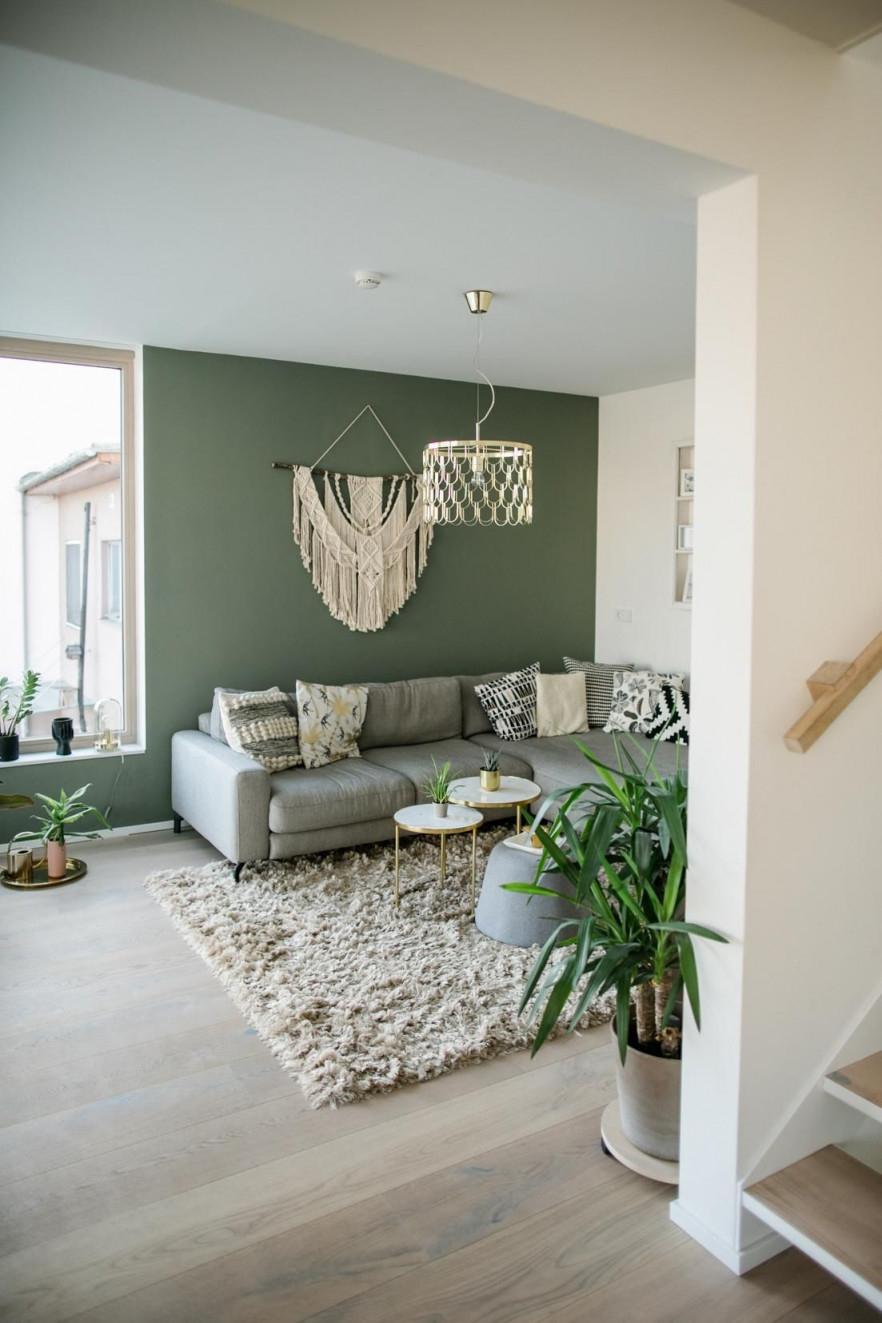 Wohnzimmer Mit Grüner Wandfarbe  Wandfarbe Wohnzimmer von Grosse Deko Für Wohnzimmer Bild