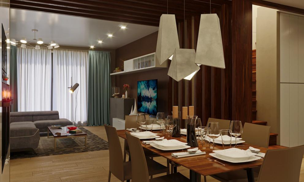 Wohnzimmer Mit Küche 3D Visualisierung Und Design 3D von 3D Bilder Wohnzimmer Photo