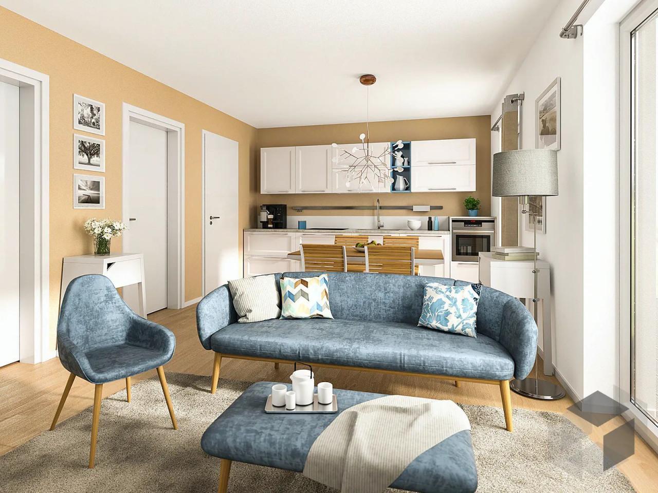 Wohnzimmer Mit Offener Küche Klein In 2020  Kleines von Kleines Wohnzimmer Mit Küche Einrichten Photo