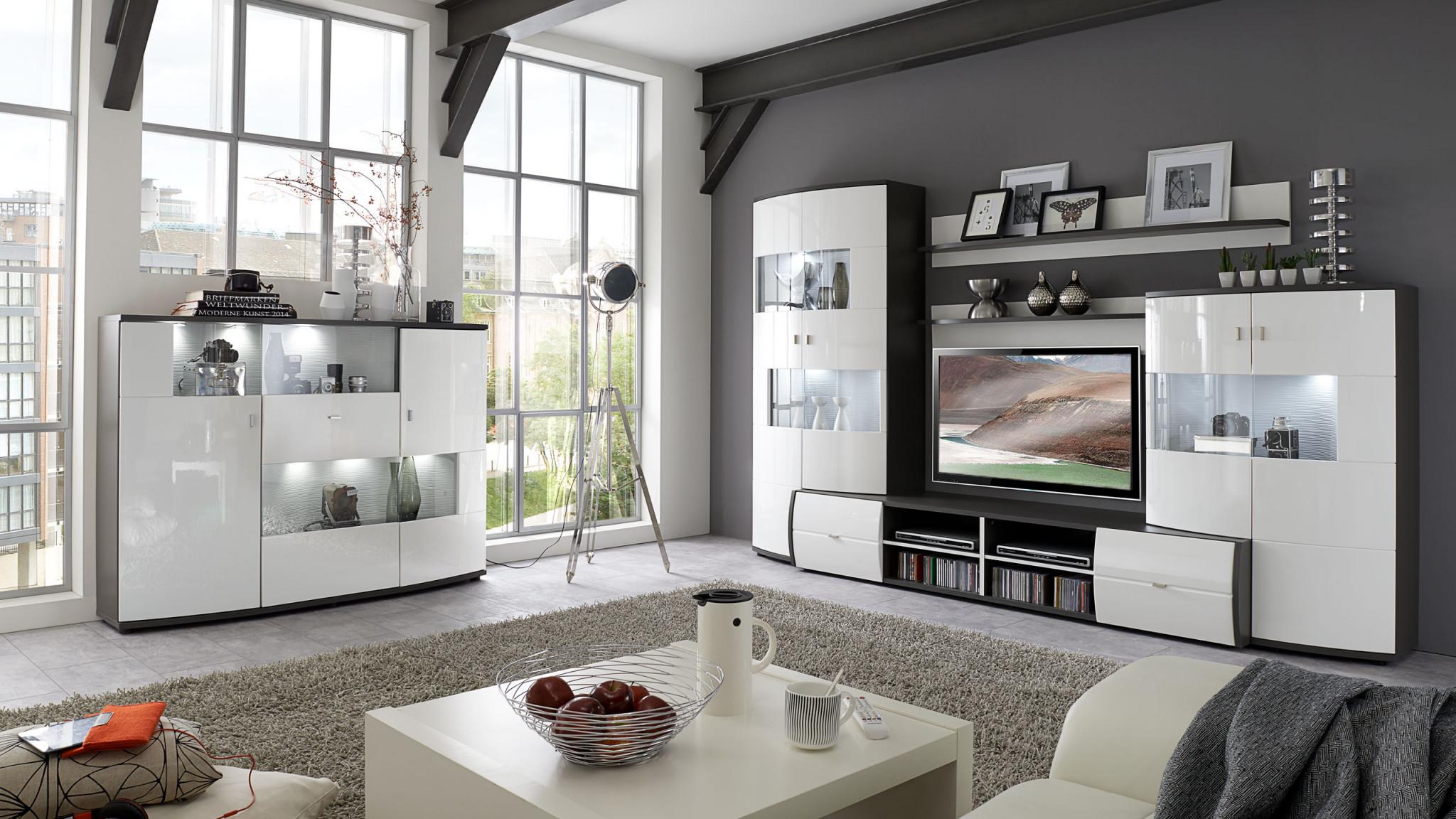 Wohnzimmer  Möbel Interliving Hugelmann  Lahr Freiburg von Moderne Möbel Für Wohnzimmer Bild