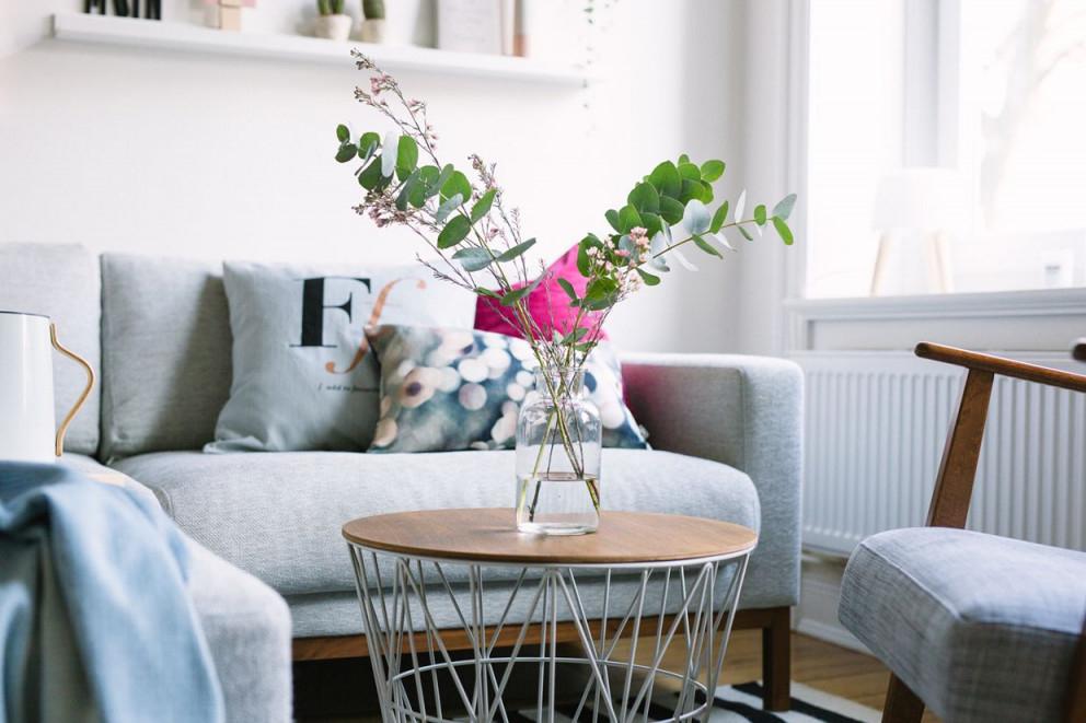 Wohnzimmer Neu Einrichten Kupfer Rosé Und Blau von Wohnzimmer Neu Einrichten Bild