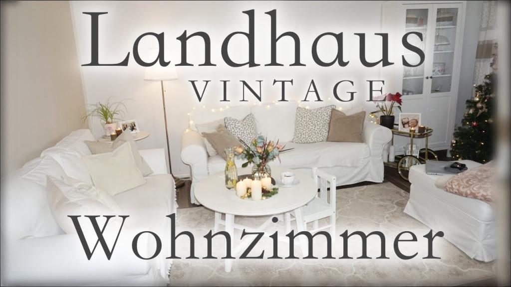Wohnzimmer Roomtour  Vintage  Landhausstil  Ikea von Wohnzimmer Im Landhausstil Einrichten Photo