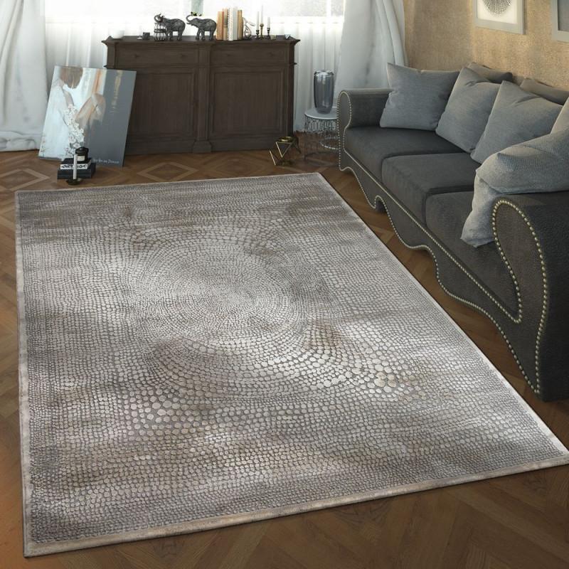 Wohnzimmer Teppich 3D Design Gepunktet Modern von Wohnzimmer Teppich Hellgrau Photo