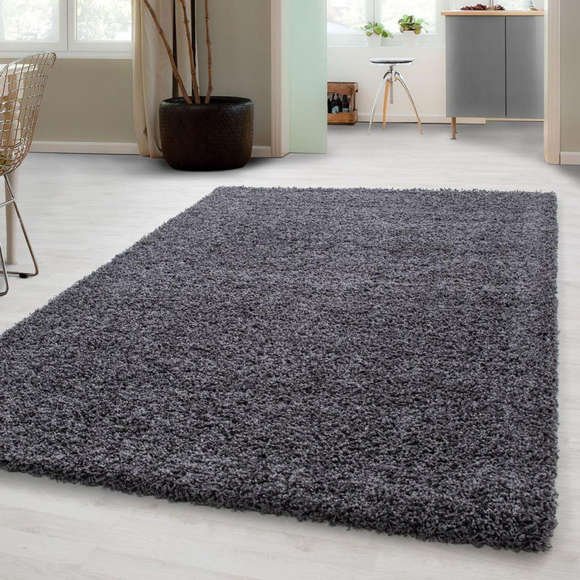 Wohnzimmer Teppich Hochflor Shaggy Einfarbige Und  Real von Flauschiger Teppich Wohnzimmer Bild
