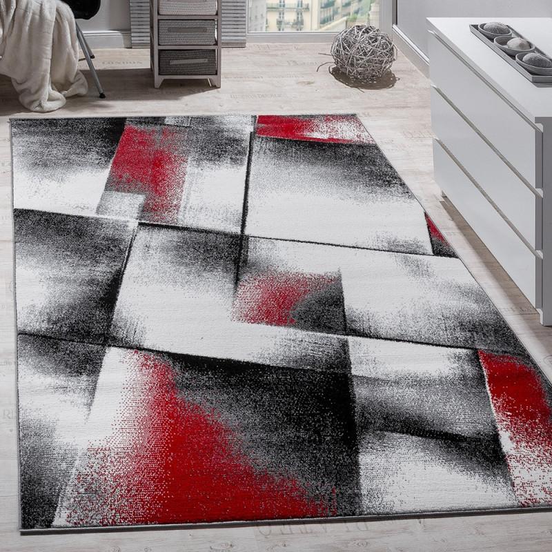 Wohnzimmer Teppich Kurzflor Rot Grau von Bilder Wohnzimmer Rot Grau Photo