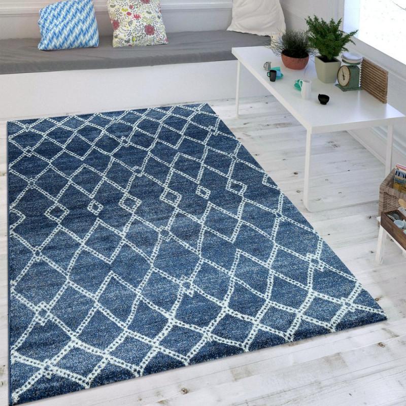 Wohnzimmer Teppich Marokkanisches Muster Maritim von Teppich Maritim Wohnzimmer Photo