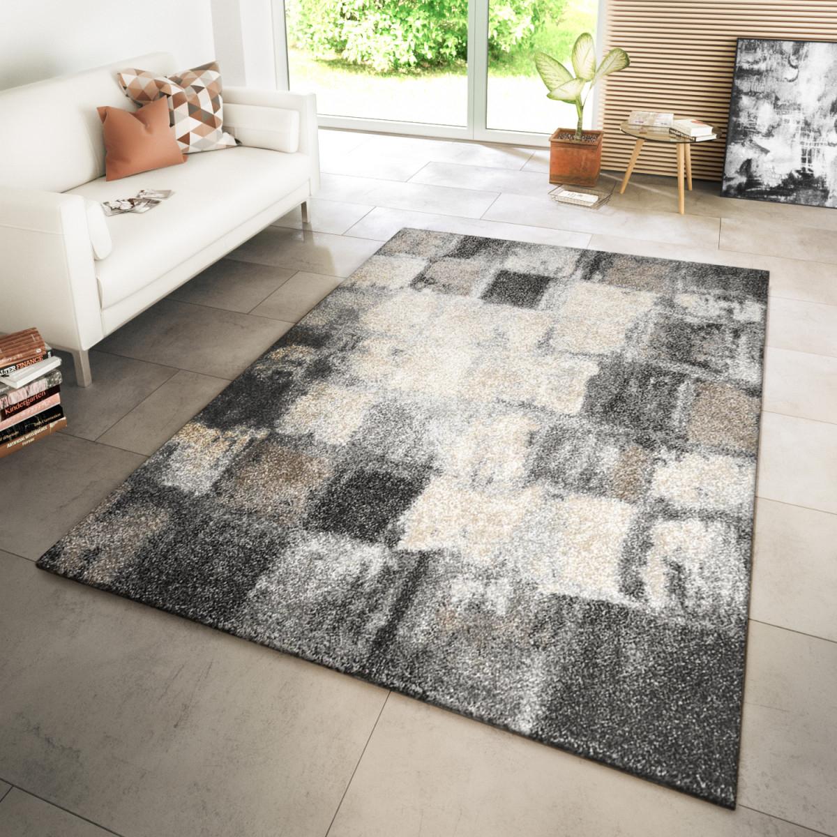 Wohnzimmer Teppich Modern Kupfer Grau von Teppich Modern Wohnzimmer Photo