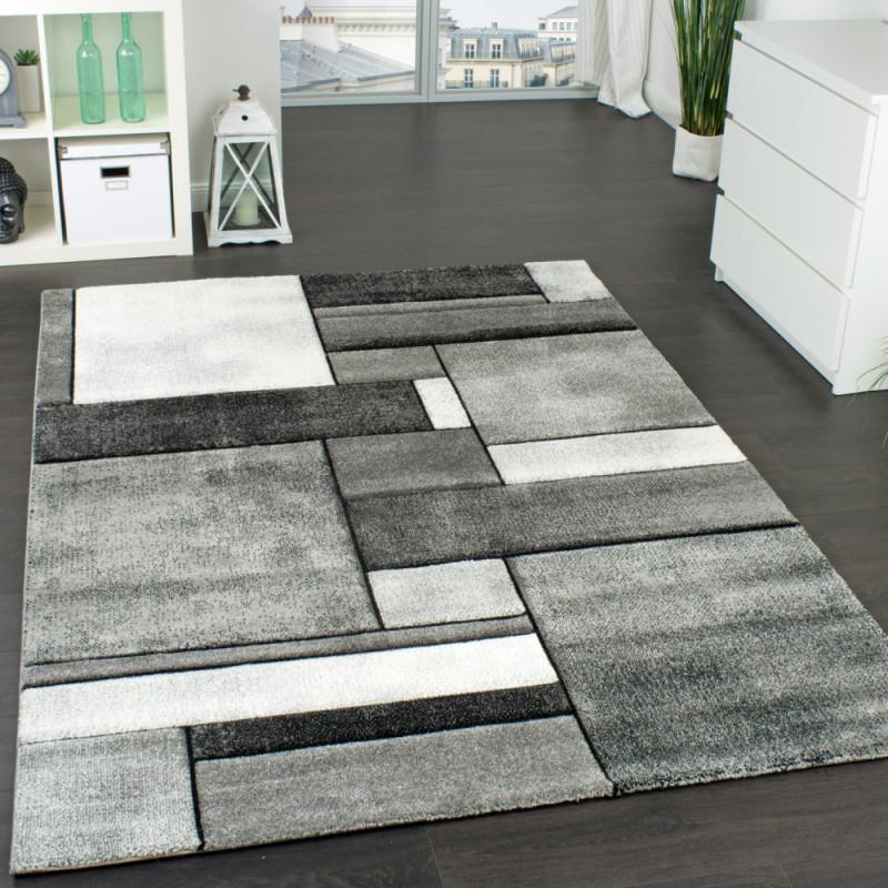 Wohnzimmer Teppich Modern Trendig Meliert In Grau  Mirai von Teppich Grau Wohnzimmer Bild