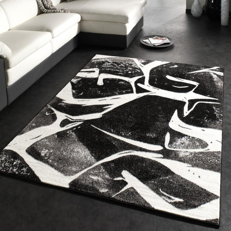 Wohnzimmer Teppich Muster Kurzflor Robust von Wohnzimmer Teppich Schwarz Photo