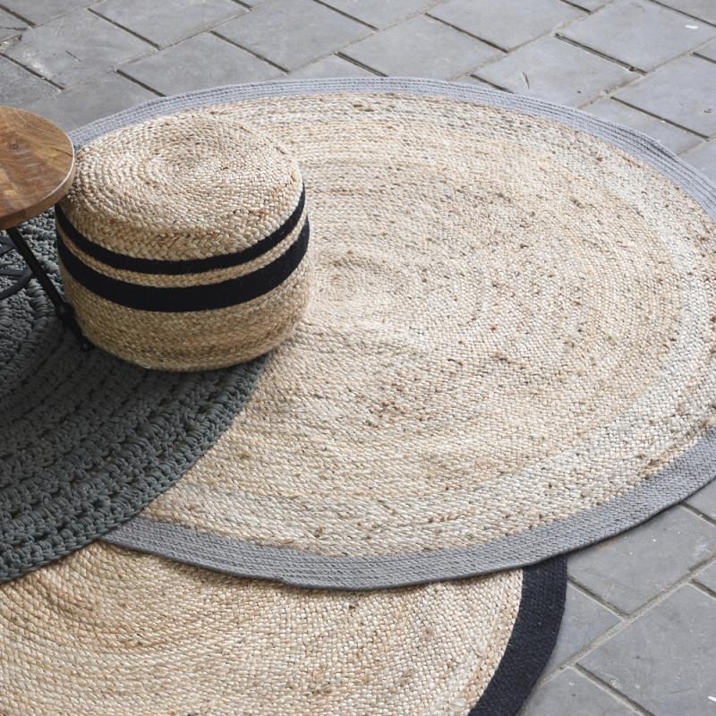 Wohnzimmer Teppich Ø 150 Cm Schwarz Rund Teppiche Carpet von Wohnzimmer Teppich Rund Photo
