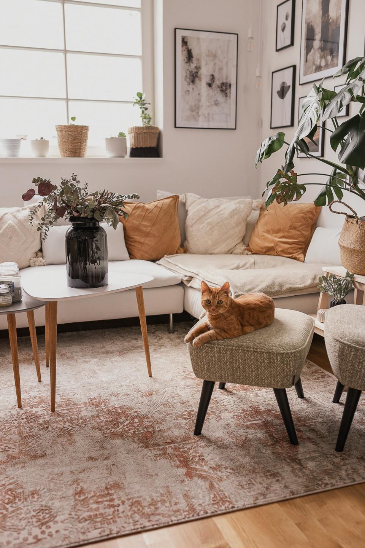 Wohnzimmer Update So Habe Ich Den Richtigen Vintageteppich von Grosser Teppich Wohnzimmer Photo
