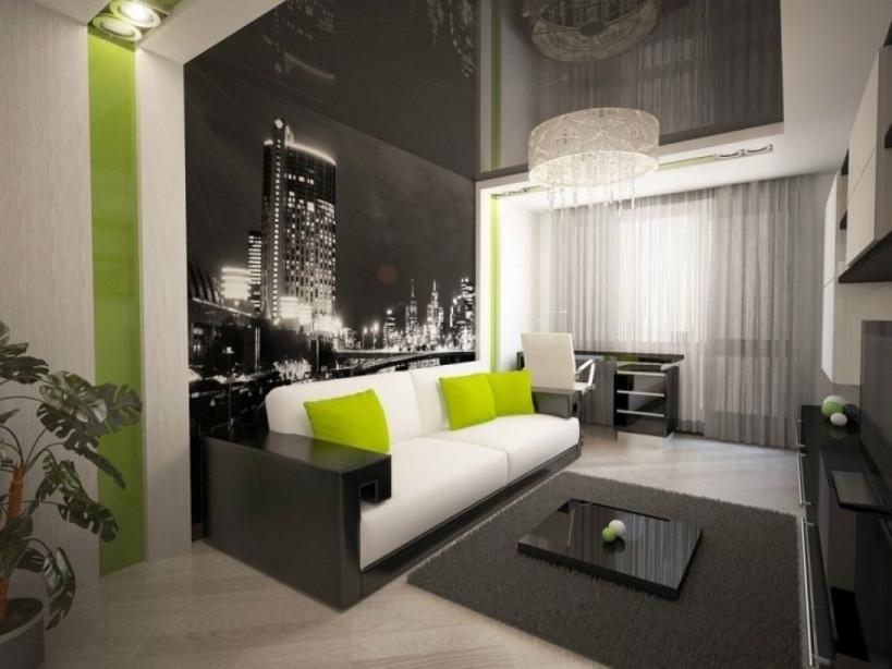 Wohnzimmer Wande Tapezieren Ideen Fototapete Schwarz Weiss von Wohnzimmer Mit Tapete Gestalten Bild