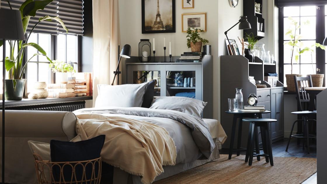 Wohnzimmer  Wohnbereich Ideen  Inspirationen  Ikea von Ideen Wohnzimmer Und Schlafzimmer In Einem Photo