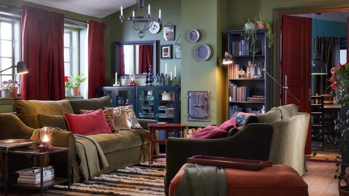 Wohnzimmer  Wohnbereich Ideen  Inspirationen  Ikea von Wohnzimmer Ideen Braun Bild
