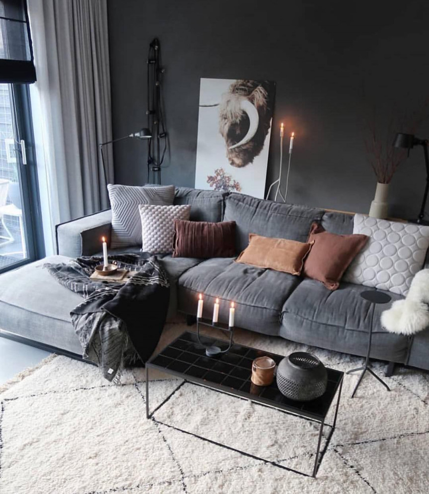 Wohnzimmerdekowohnzimmer Ideendekorationhome Ideenhome von Wohnzimmer Deko Ideen Grau Bild