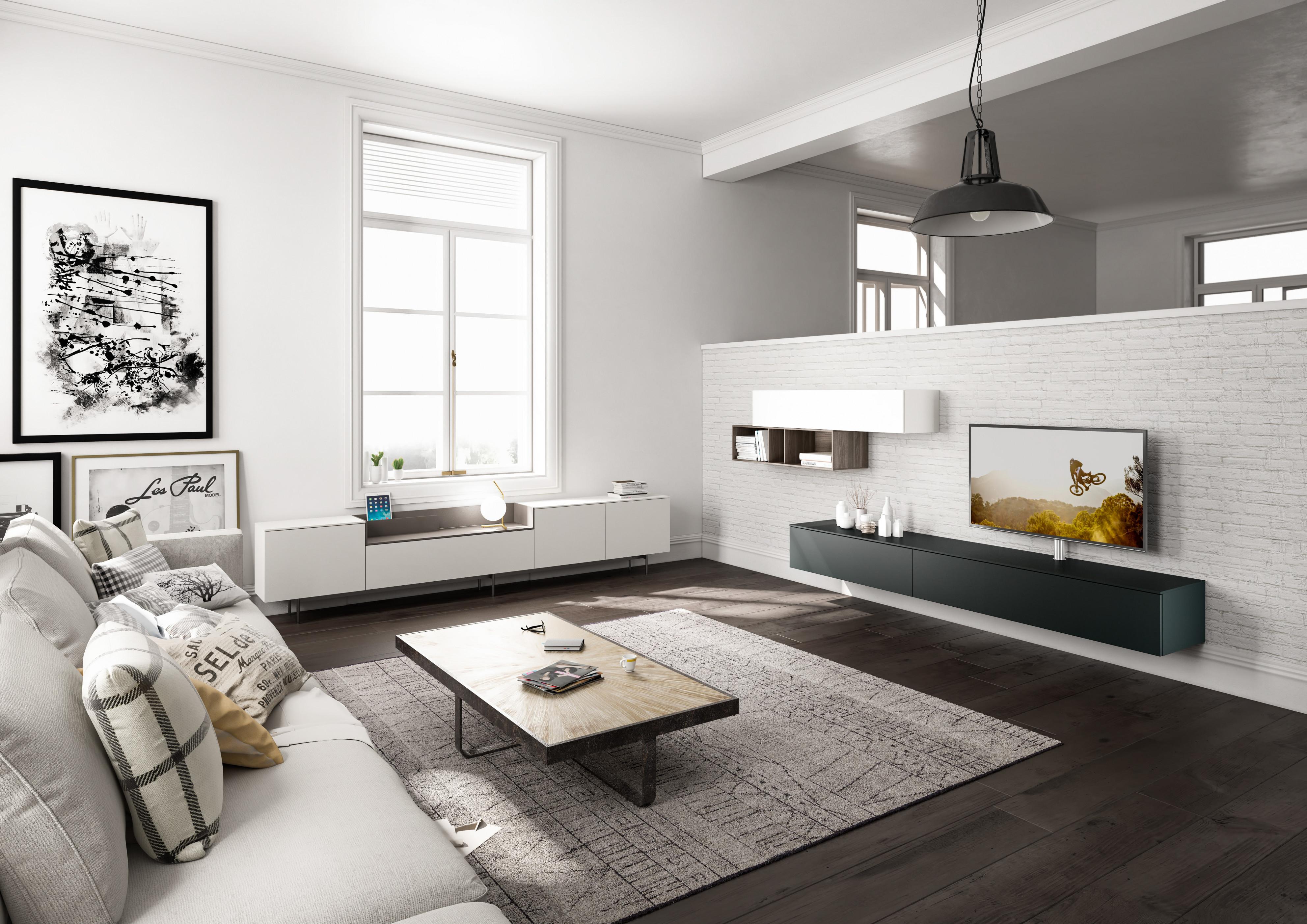 Wohnzimmergestaltung – Die Besten Ideen Tipps  Wohnbeispiele von Wohnzimmer Einrichten Grau Bild
