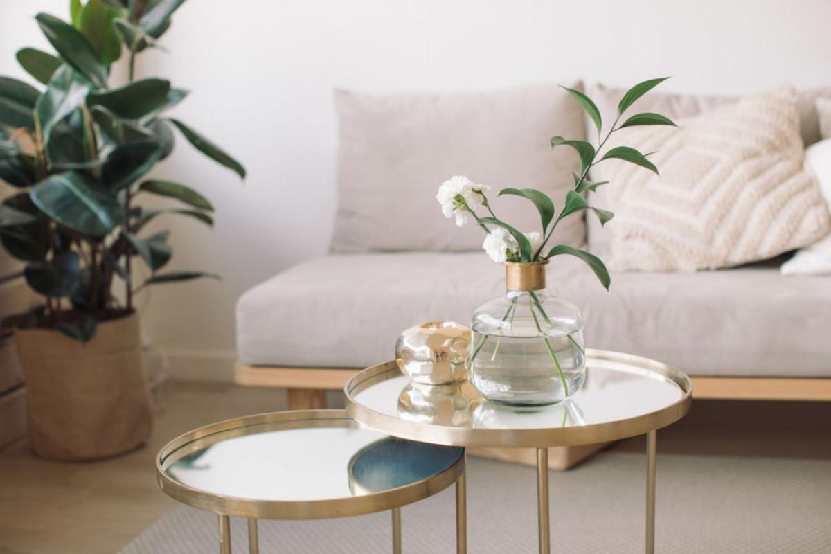 Wohnzimmerideen 7 Dekoideen Fürs Wohnzimmer  Glamour von Wohnzimmer Pflanzen Ideen Bild