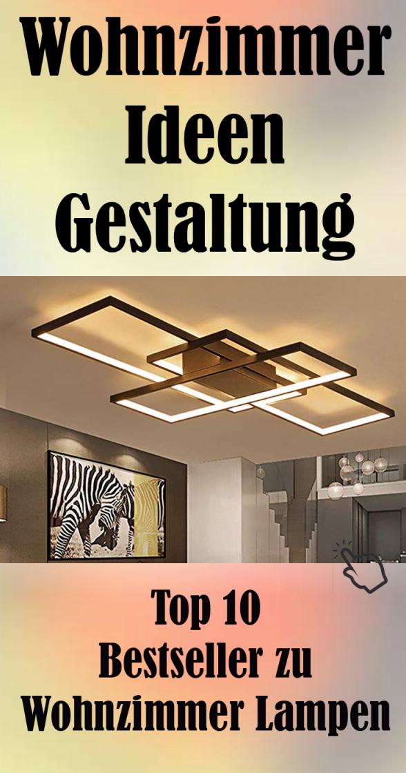Wohnzimmerlampe Modern Led Decke Dimmbar Acryl Lampenschirm von Wohnzimmer Lampe Design Bild