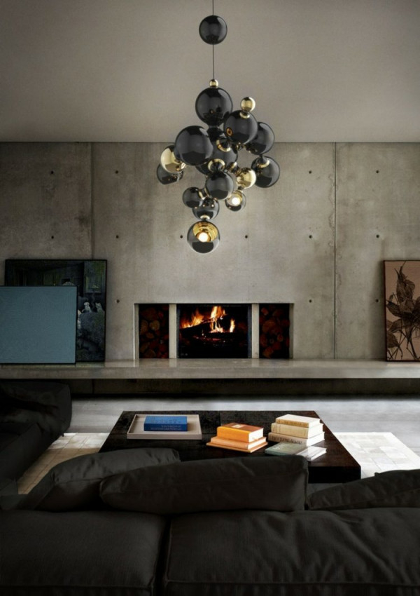 Wohnzimmerlampen Ideen  25 Stilvolle Designermodelle von Wohnzimmer Lampe Schwarz Bild