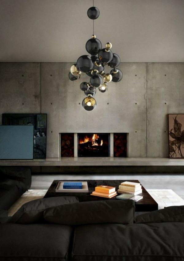 Wohnzimmerlampen Ideen  25 Stilvolle Designermodelle von Wohnzimmer Lampe Schwarz Gold Photo
