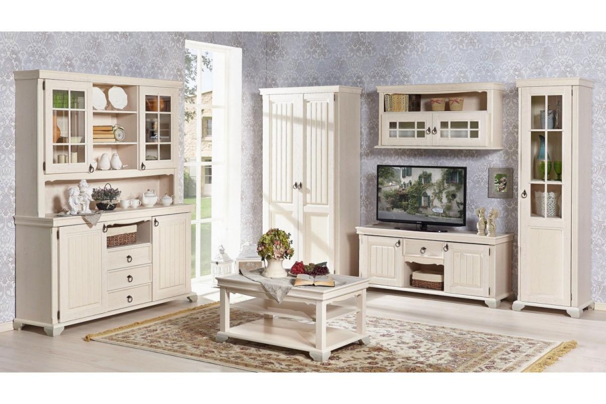 Wohnzimmerset Amelie Landhausstil Creme Weiss 7Teilig von Landhausstil Wohnzimmer Bilder Bild
