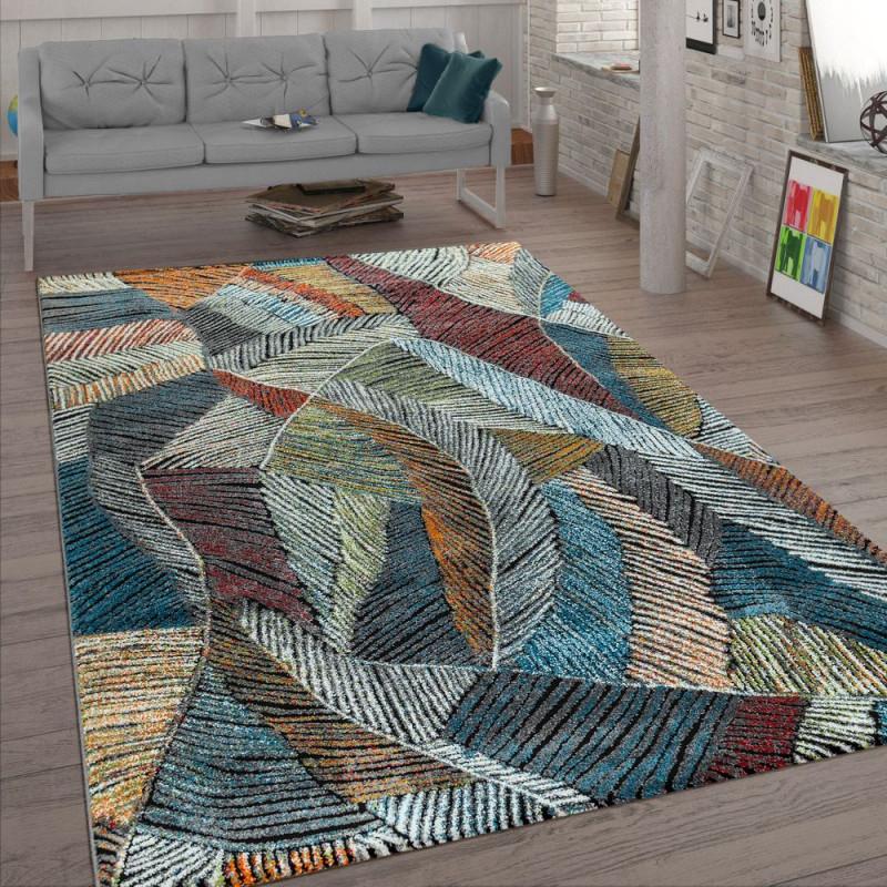 Wohnzimmerteppich Pastellfarben Kreidelook Bunt von Teppich Wohnzimmer Bunt Bild