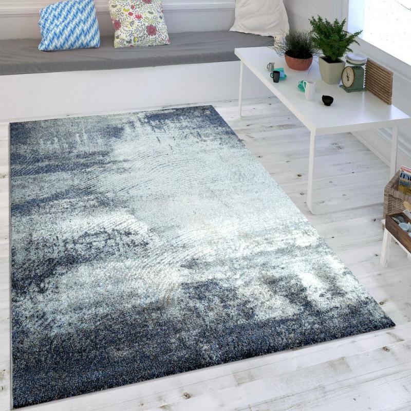 Wohnzimmerteppich Usedlook Blau von Teppich Blau Wohnzimmer Photo