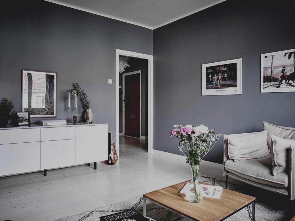 Wohnzimmerwand Ideen Grau von Graues Wohnzimmer Ideen Bild