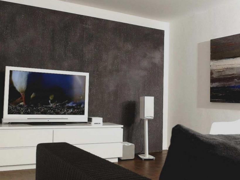 Wohnzimmerwand Ideen Grau von Ideen Für Wände Im Wohnzimmer Bild
