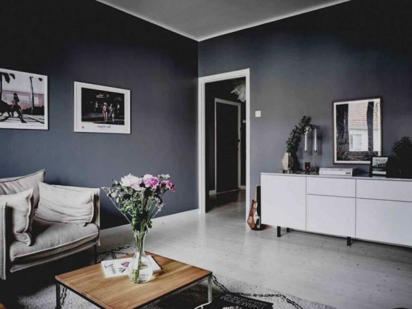 Wohnzimmerwand Ideen Grau von Wohnzimmer In Grau Gestalten Bild
