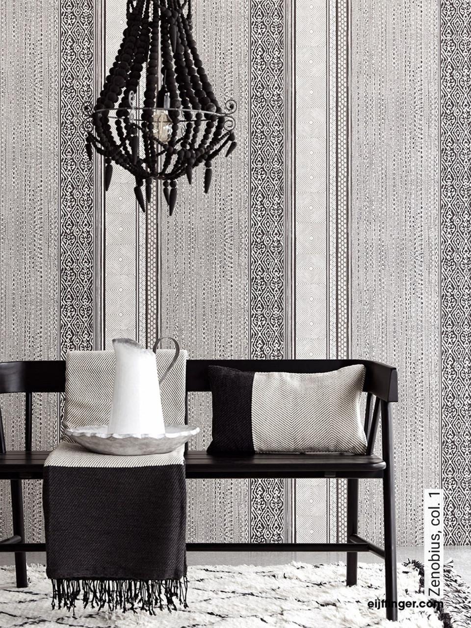 Zenobius Col 1 von Streifen Tapeten Wohnzimmer Photo