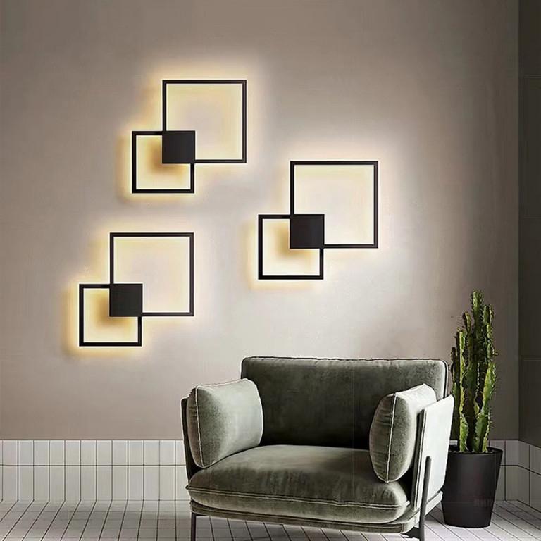 Zerouno Led Panel Licht Wohnzimmer Diy Wand Dekoration Panel Lampe Modul  Lampen Runden Platz 220V 20W 24W Panel Beleuchtung von Wohnzimmer Lampe Wand Photo