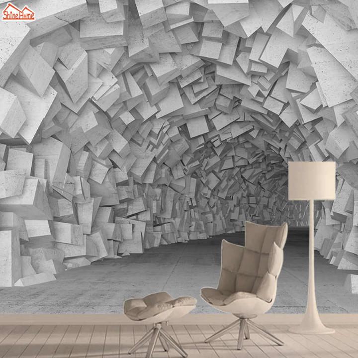 Ziegel 3D Tapete Wandbild Tapeten Für Wohnzimmer Wand Papier von Bilder Tapeten Wohnzimmer Photo
