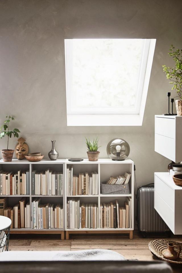 Zimmer Mit Dachschräge Einrichten Eket Schrank  Zimmer Mit von Wohnzimmer Dachschräge Gestalten Photo
