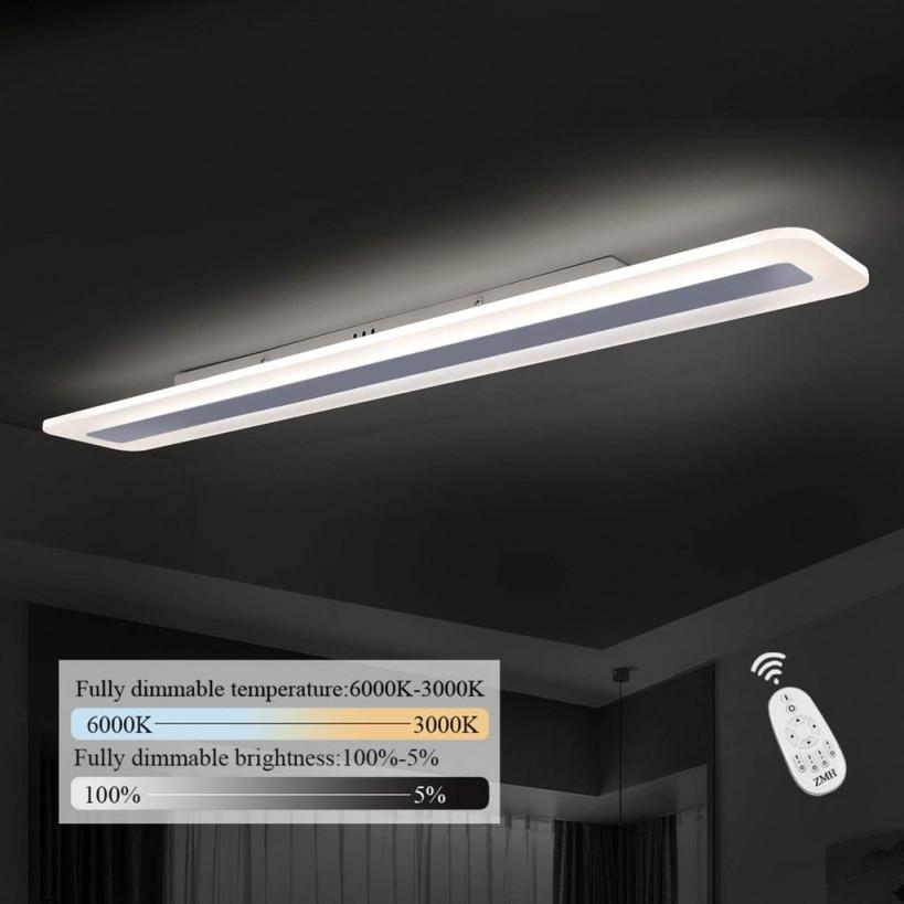 Zmh Led Deckenleuchte Panel Dimmbar Mit  Real von Wohnzimmer Lampe Flach Photo