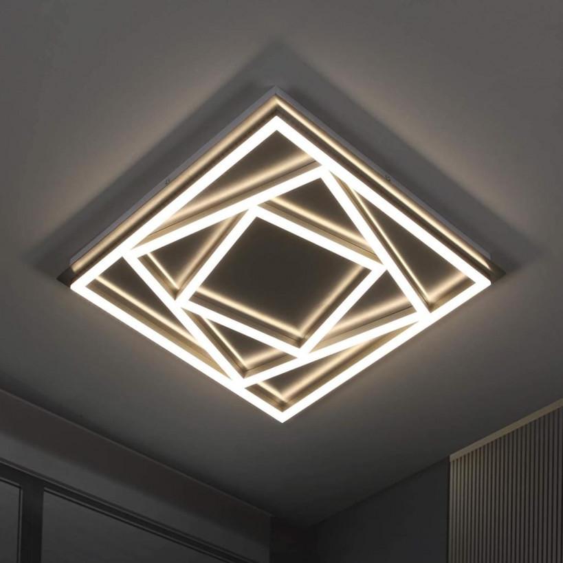 Zmh Led Deckenleuchte Wohnzimmer Aus Metall Und  Real von Moderne Deckenlampe Wohnzimmer Bild