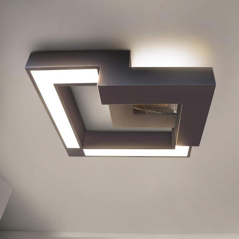 Zmh Led Deckenleuchte Wohnzimmer Modern Dimmbar  Real von Deckenlampe Wohnzimmer Modern Photo